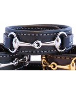 Two Tone Leather Black Navy Blue Leather Silver Horse Pick Snaffle Bit B... - £32.34 GBP