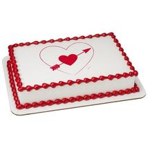 Heart and Arrow Edible Cake Topper Image - $9.99+
