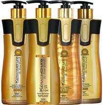 Keratin Cure Gold & Honey V2 Lgel Hair Straight TREATMENT4 Piece Kit 460ml 15oz - $302.99