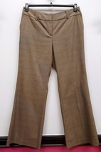 ANN TAYLOR LOFT Size 14 Beige Subtle Plaid JULIE Career Work Dress Pants... - $28.04