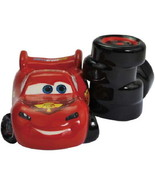 Disney's Cars Lightning McQueen & Tires Ceramic Salt and Pepper Shakers ... - $25.15