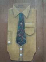 Vintage Hallmark Men's Shirt & Tie Birthday Card - $5.99