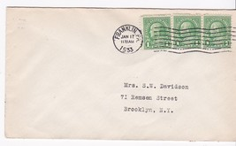 Franklin Pa January 17 1933 On 1C Franklin Stamp Signed By Postmaster - $2.98