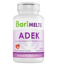 BariMelts ADEK, Dissolvable Bariatric Vitamins, Natural Strawberry Flavo... - $40.08