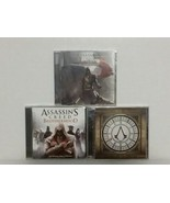 ASSASSINS CREED: 3 GAME SOUNDTRACKS:UNITY, BROTHERHOOD, SYNDICATE + T-SHIRT - $37.40