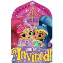Shimmer & Shine Save The Date Invitations 8 Per Package Birthday Party S... - $5.10