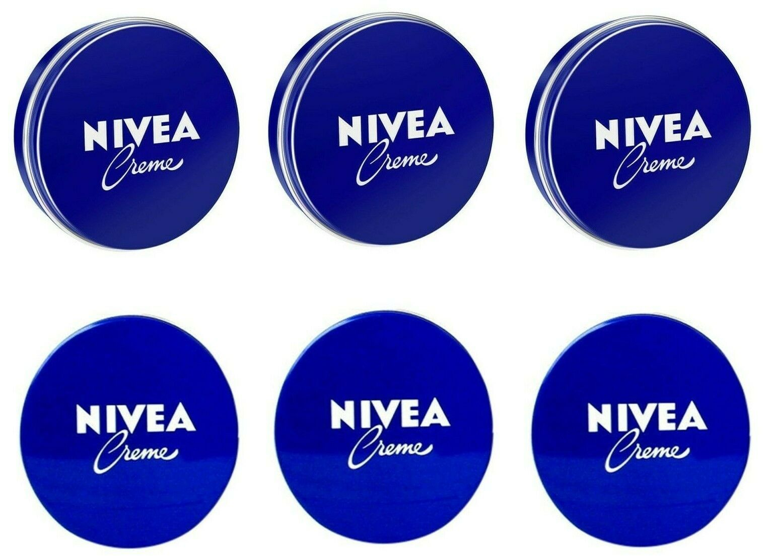 Primary image for 6 Can 150 mL/ 5 oz NIVEA CREAM Skin Hand CREME moisturizer Metal Tin Total 30oz