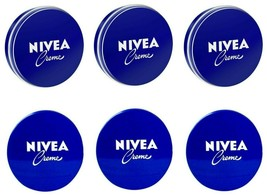 6 Can 150 mL/ 5 oz NIVEA CREAM Skin Hand CREME moisturizer Metal Tin Tot... - $25.48
