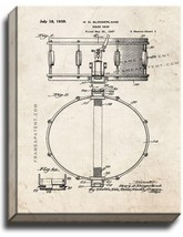 Snare Drum Patent Print Old Look on Canvas - $69.95+