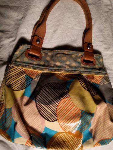 qualité et quantité assurées large choix de designs économiser Fossil Key Per Purse Handbag Coated Canvas and 50 similar items
