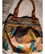 Fossil Key Per Purse Handbag Coated Canvas Tote Shopper Floral Leather P... - $33.16