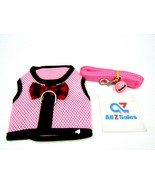 Pink Cat Harness Walking Kitten (Size M) Adjustable with Leash & Bell - NEW - $14.80