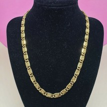 Vintage Gold Tone Snail Chain Link Necklace Chic Scroll Chain Jewelry Go... - $16.97