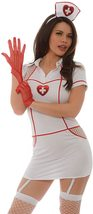 Sexy Hospital Hottie Costume Role Play Bedroom Deluxe Costume Nurse Uniform image 3