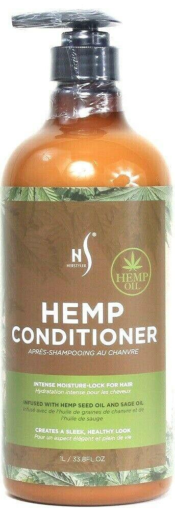 1 Ct HerStyler 33.8 Oz Hemp Seed & Sage Oil Moisture Lock Conditioner With Pump - $21.99