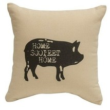 """HOME SOOIEET HOME"" Pig Tabletop Pillow FARMHOUSE COUNTRY DECOR  10"" Filled - £18.92 GBP"