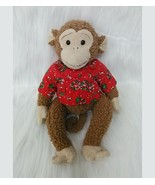 """13"""" Monkey In Christmas Shirt Mouse In The House Plush Brown Stuffed Toy... - $13.47"""