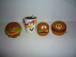 Hallmark Hamburgers and Sodas Collectables figures 1989 & Superior Toys - $5.94