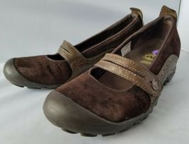 Merrell Performance Plaza Bandeau Chocolate Brown Mary Janes Ortholite Shoes 8 image 5