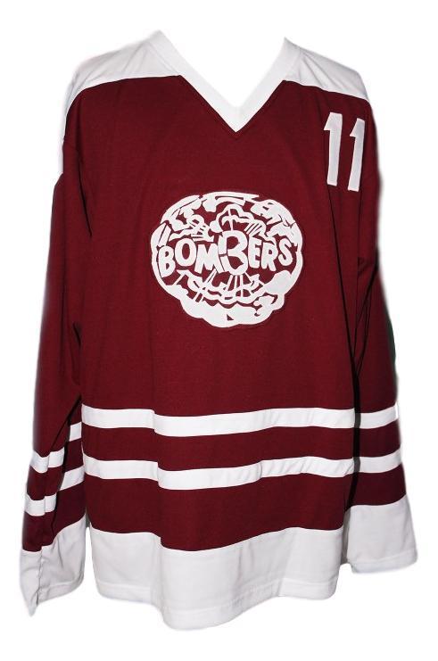 Bob clarke  11 flin flon bombers custom hockey jersey maroon   1