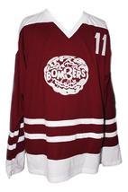 Bobby Clarke #11 Flin Flon Bombers Custom Hockey Jersey New Maroon Any Size image 1