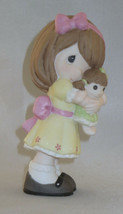 You're A Doll Precious Moments Girl Yellow Dress Figurine Porcelain NWOB  - $35.63