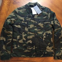 Zara Man Camo Army Coat Jacket Mens Size S Small New! - $69.00