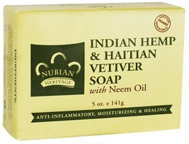 Bar Soap Indian Hemp & Haitian Vetiver, 5 oz (141 g) (6-Pack) - $33.28