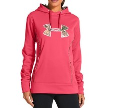 NEW UNDER ARMOUR WOMEN'S STORM CALIBER SPORT GYM WORK OUT HOODIE CERISE PINK image 1