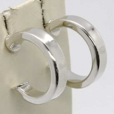 EARRINGS SILVER 925 RHODIUM PLATED CIRCLES SQUARED WITH FARFALLINA 2 CM DIAMETER