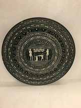 pottery large plate hand painted wall hanging greek naked figures burial... - $79.19