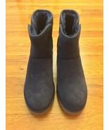 Ugg Australia Women Kristin Navy Sheepskin Suede 1012497 W Wedge Heel Bo... - $139.99