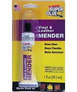 Super Glue Vinyl & Leather Adhesive Mender Clear Flexible Water Resistan... - $3.95