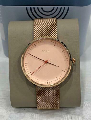 Primary image for Fossil ES4425 Women's Essentialist Watch Rose Gold w/ Mesh Band New
