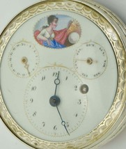 MUSEUM Napoleon I French silver&enamel Verge Fusee Calendar Regulator wa... - $19,000.00