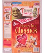 MT General Mills Cereal Box HONEY NUT CHEERIOS 2004 6.5oz SHREK 2 [G7D5h2] - $9.57