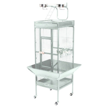 Prevue Hendryx Small Wrought Iron Select Bird Cage - Chalk White 961-PP-3151C - $240.66