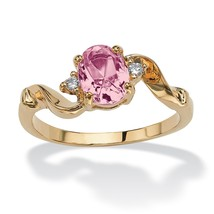Birthstone Crystal 14k Yellow Gold-Plated Ring-June-Simulated Alexandrite - $9.06