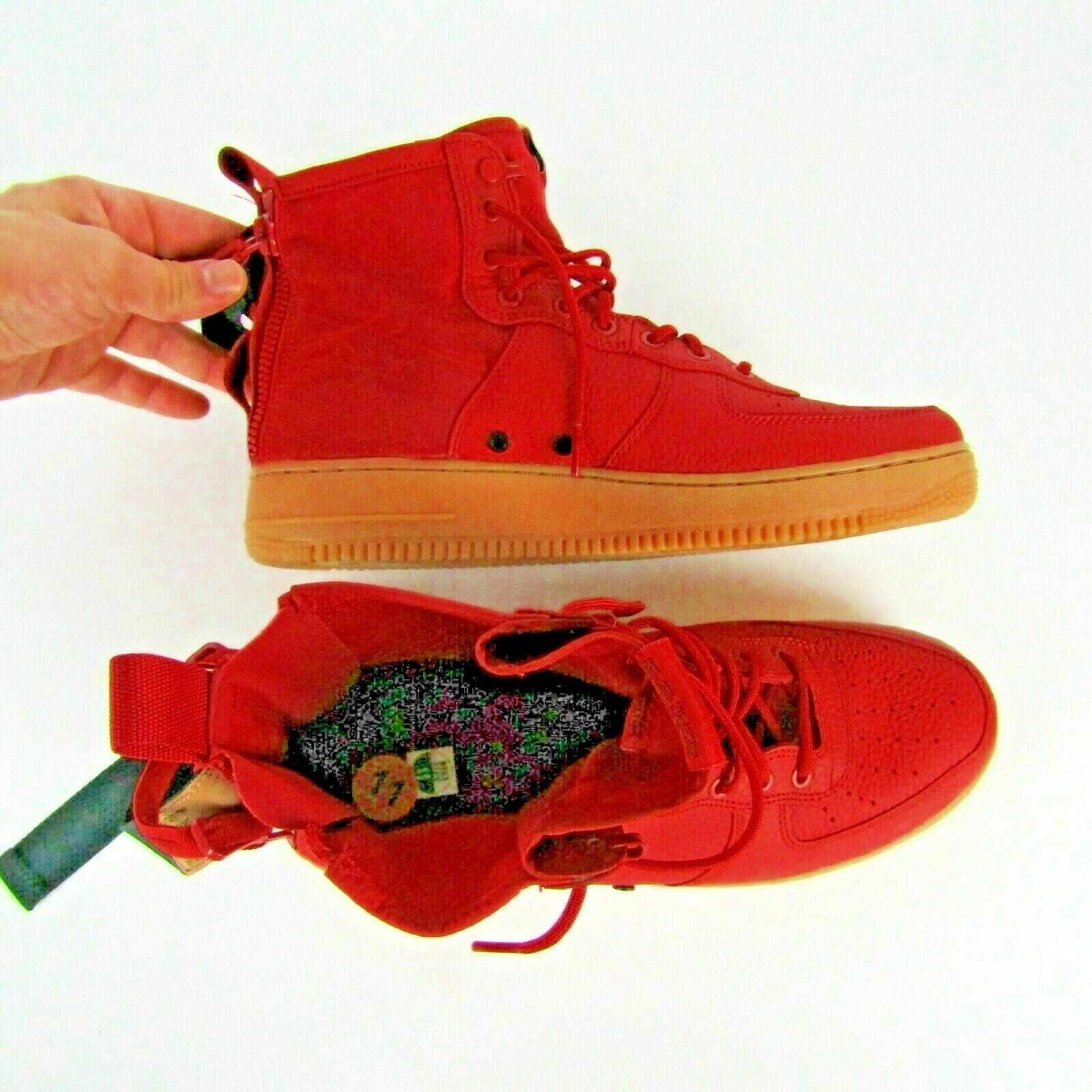 Nike SF AF1 Mid Dune Red Black Shoes Size 11 Men 917753 600 Air Force 1 Sneakers image 6