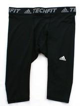 Adidas ClimaLite Techfit Base Black 3/4 Length Compression Tight  Men's NWT - $33.74