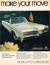 Vintage 1968 Magazine Ad Chrysler Make Your Move Make Chrysler Your Own - $5.93