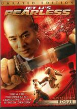 JET  LI  * FEARLESS *  2006  DVD ~ UNRATED AND THEATHER RELEASES - $3.00