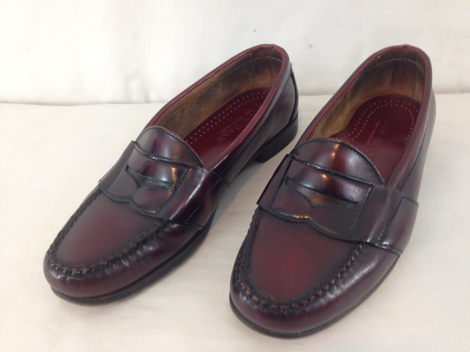 eea7b99f393 S l1600. S l1600. Previous. Cole Haan American Handsewn Mens 9 D Burgundy Leather  USA Made Penny Loafers