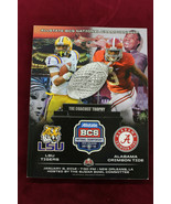 2012 BCS National Championship Game Program Alabama vs LSU A.J. McCarron... - $21.77