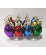"""Christmas MINI Plastic Multi Color Light Bulb Ornaments 1.75"""" Set of 12 - $12.75"""