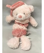 Nat & Jules Plush Pink TEDDY BEAR Musical Pull Toy  ~ Plays Rock-a-Bye Baby - $9.85
