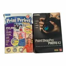 Corel Paint Shop Pro Photo X2 Plus Cosmi Print Perfect Deluxe - $34.64