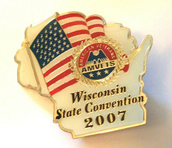 VINTAGE WISCONSIN AMVETS STATE  CONVENTION 2007 Lapel Pin