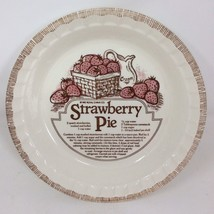 "11"" Pie Plate Dish Royal China All American Strawberry  1983 Recipe Vintage - $22.99"