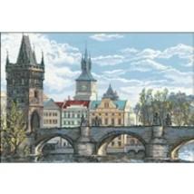 RIOLIS Counted Cross Stitch Kit, Charles Bridge Prague, Kit #R1058 - $87.13